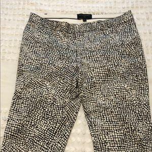 Banana Republic Snakeskin Print Cropped Pants